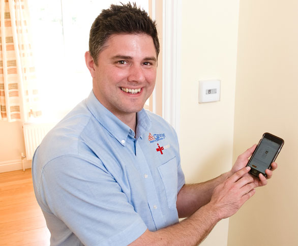 electrician with smart heating control