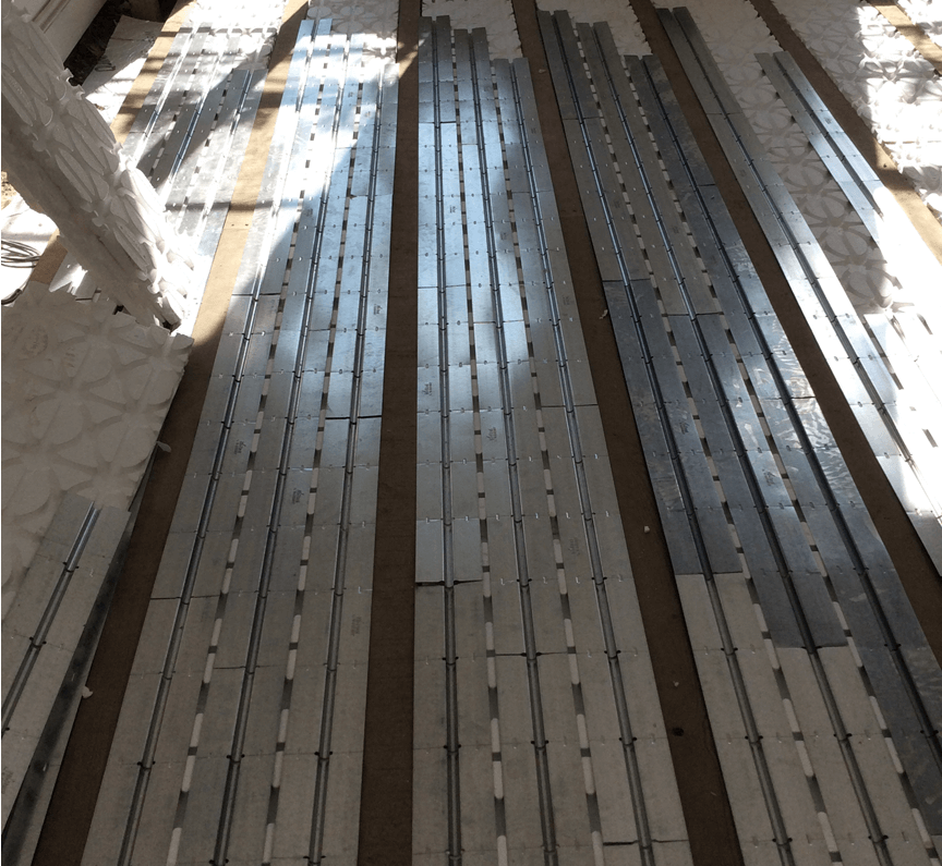 Tri panel underfloor heating