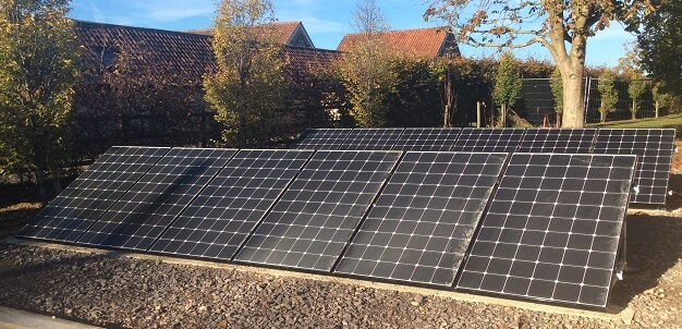 Ground-mounted Solar Photovoltaic panel installation