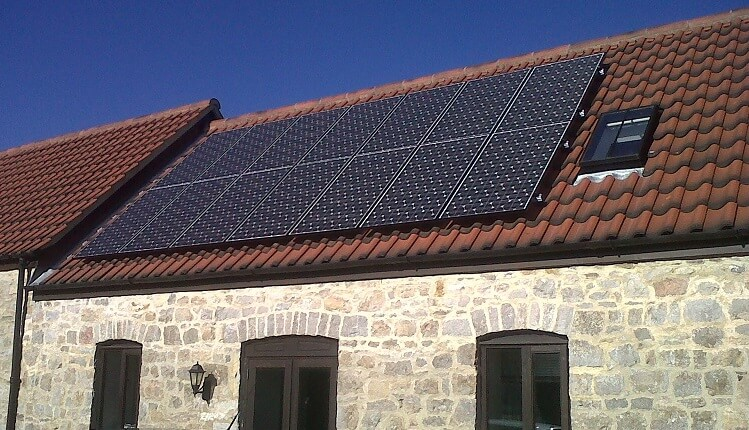 Solar photovoltaic panels installation
