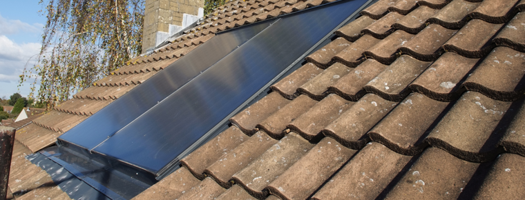 Solar Thermal Collector Panels in Domestic Roof