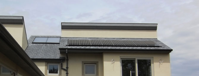 Solar PV panels in home roof